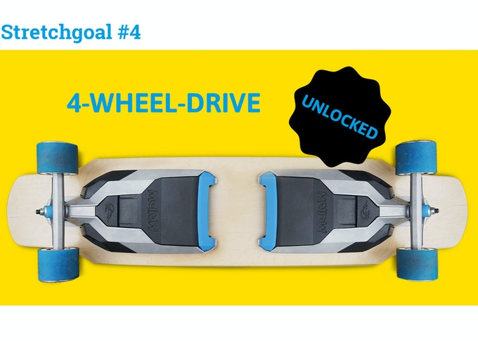 Yiiieeehaaaa! All Mellow Drives backed on Kickstarter can now be synched with a second Mellow Drive to double up your riding pleasure. Via the Mellow App the two Drives can be synched and unsynched if you want to use them on two different boards.
