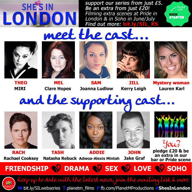 She's in London cast announcement