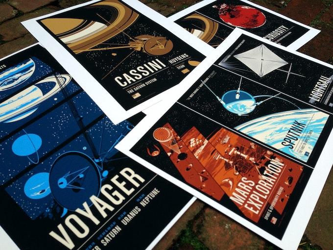 Historic Robotic Spacecraft Series One Digital Prints