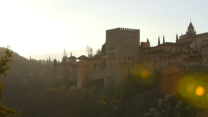 The Alhambra in Granada. From these hillsides and others in Andalucia, Flamenco emerged.
