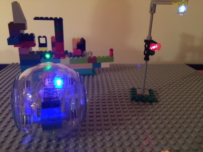 LEGO® set with i-Brix components