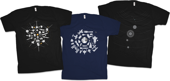 Chop Shop Iconic Space Themed Tees
