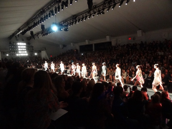 Image of a Fashion Show on Runway in NYFW