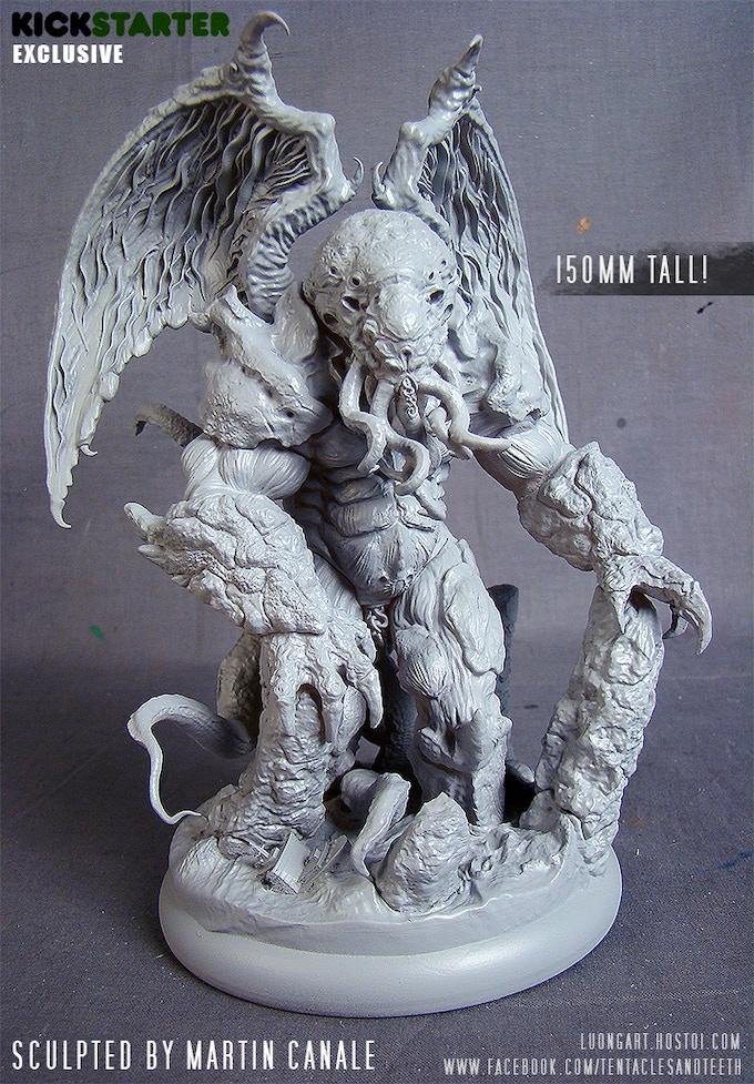 Cthuhlu resin prototype - Actual miniature may vary