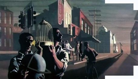 A still from the 1964 film Hangman