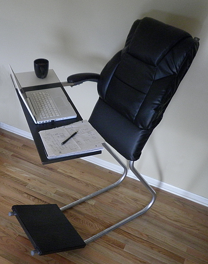 Leanchair The Portable Reclining Standing Desk By Wayne