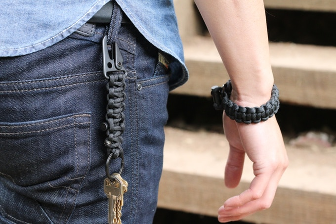Bomber Paracord Bracelet and Keychain