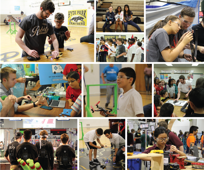 Students are our inspiration. Our outreach activities inspire and foster future dronesmiths.