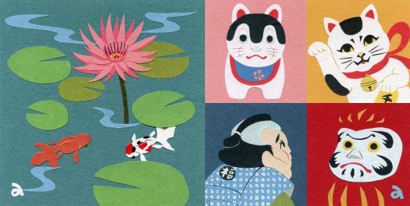 Japanese Paper Cuttuing Art by Akiko Kaneko