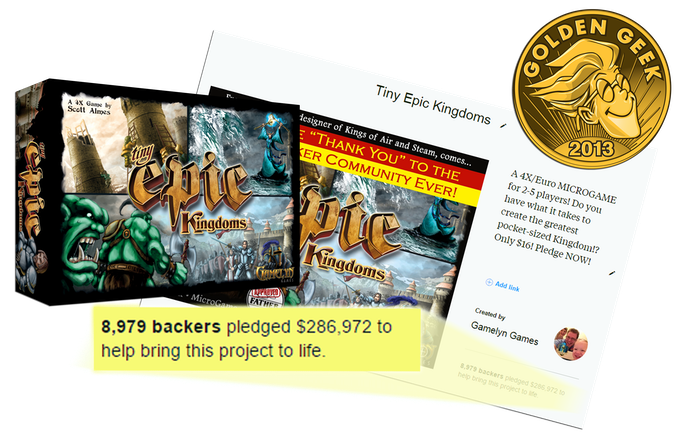 Click to visit the Tiny Epic Kingdoms Kickstarter page.