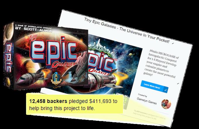 Click to visit the Tiny Epic Galaxies Kickstarter page.