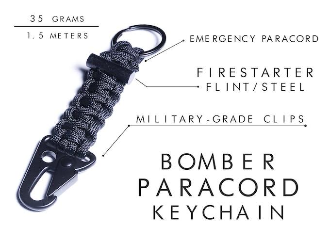 Firestarter Paracord Survival Keychain