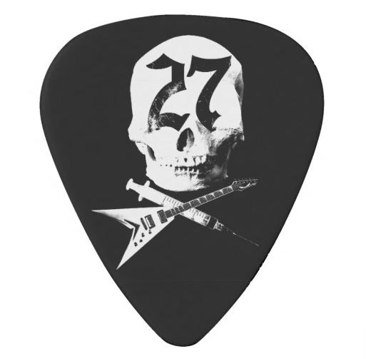 #27Club guitar pick, black (set of three)