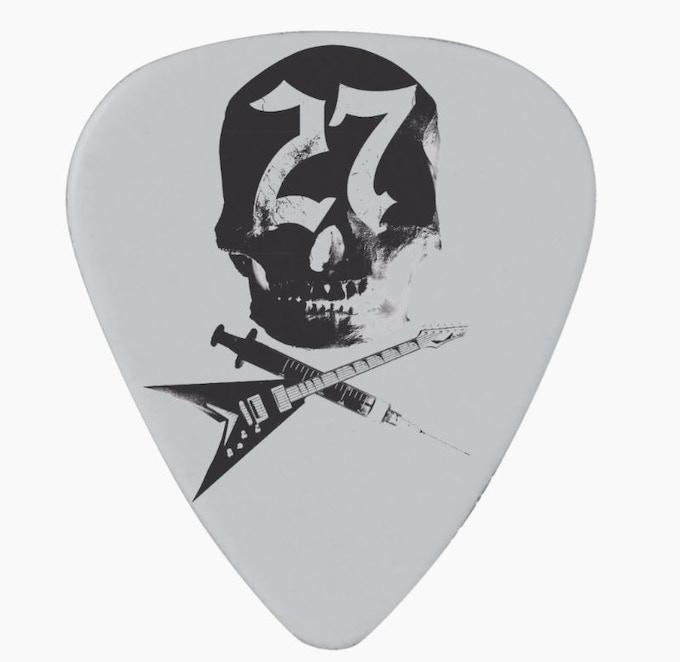 #27Club guitar pick, white (set of three)