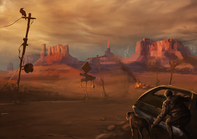 Don't be fooled by the apparent loneliness of the Desert, there's always something brewing on the background.