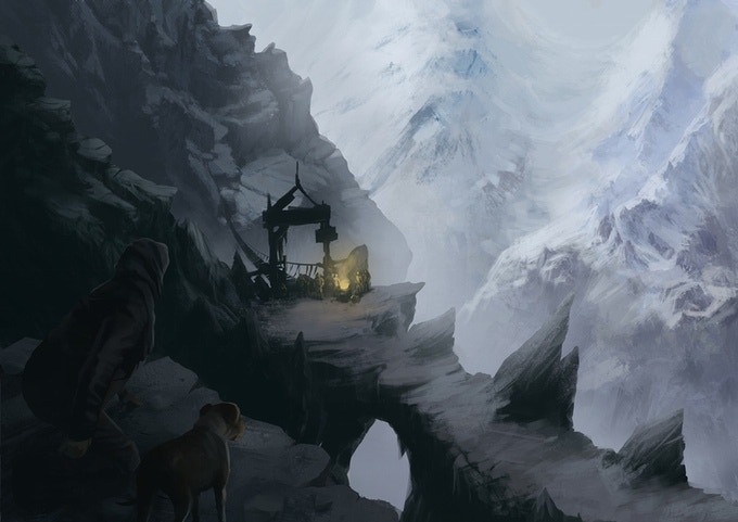 High mountains and a tricky way through... remember Moria?