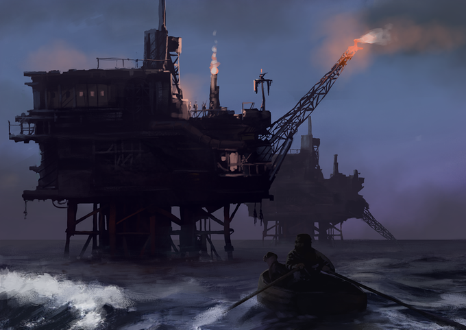 Behemoths towering over the sea... looks better than Club Mediterrane!