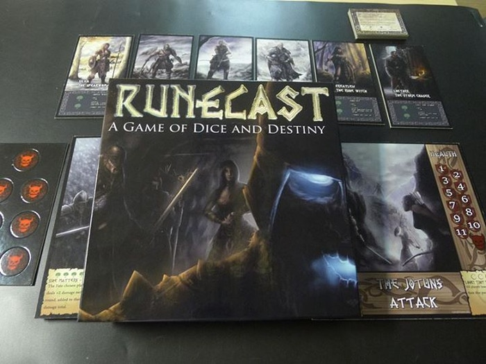 Be a Viking! Fight Giants! Defeat Loki & Survive Ragnarok! Runecast is a 30-90 minute board game for 2-6 players willing to tempt fate!