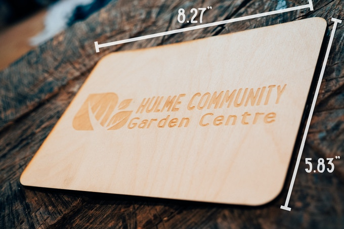 Business Plaque engraved with your Logo - Your company logo machine wood burned on a plaque placed on the donor wall.