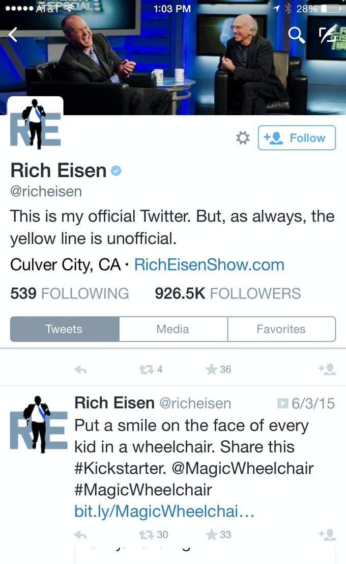 Rich Eisen jumped onboard! Thanks, brother! #NFL