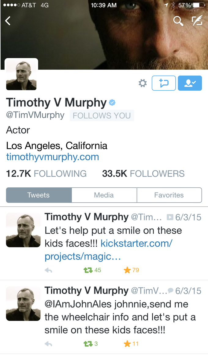 Murphy, you're a real friend.