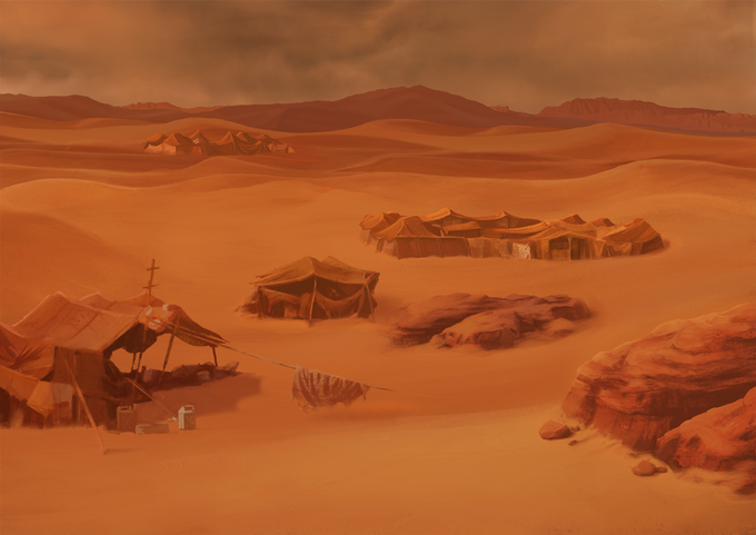 This camp is the home of the Desert's Militia. It looks 'deserted', but it's normally full of dangerous guys doing dangerous things...