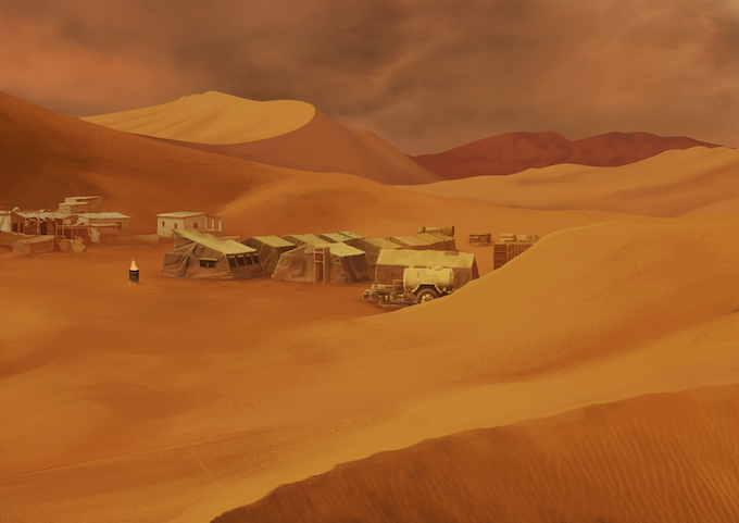 The market camp is one of two trading posts within the Desert. Looks peaceful, but the Agents would typically wait for their prey on one of this two locations.