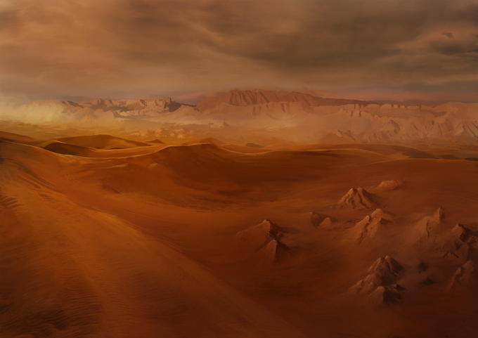 At the beginning of your adventure, the Desert will seem endless, don't let your morale fall too much or you won't make it through this land.
