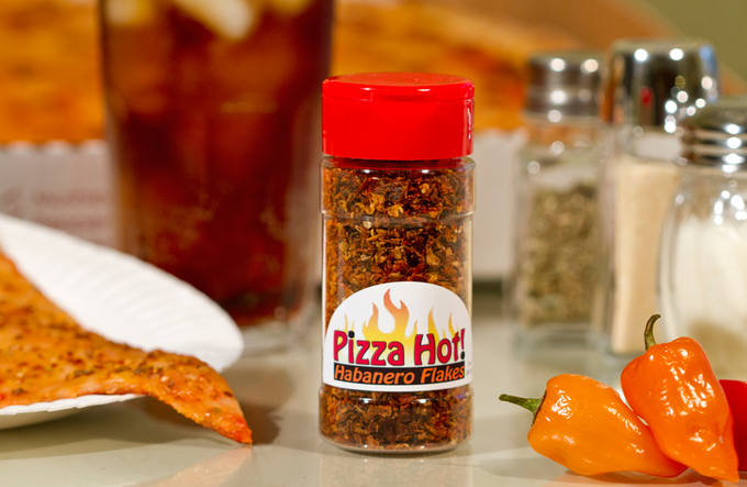 Pizza Hot! Habanero Flakes are a step up from common table red pepper, Habanero pepper offers bold flavor and more heat :-)