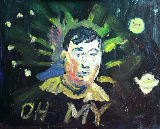 "$300 ""Astroid 7307 Takei"" oil painting"