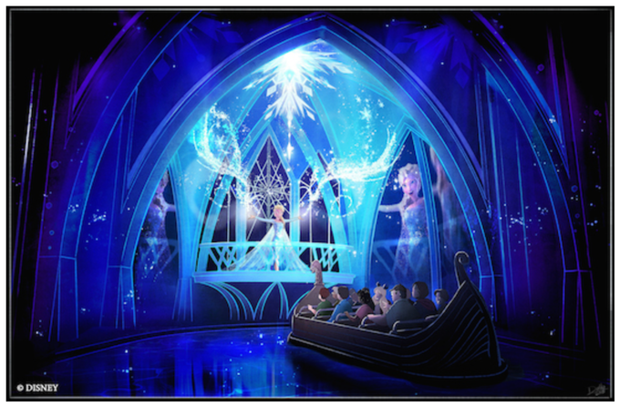 Disney recently unveiled this first look at the Frozen Ever After ride that will open at Epcot in 2016.