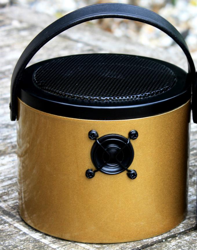 Limited Edition Kickstarter high gloss metallic gold SoundBucket