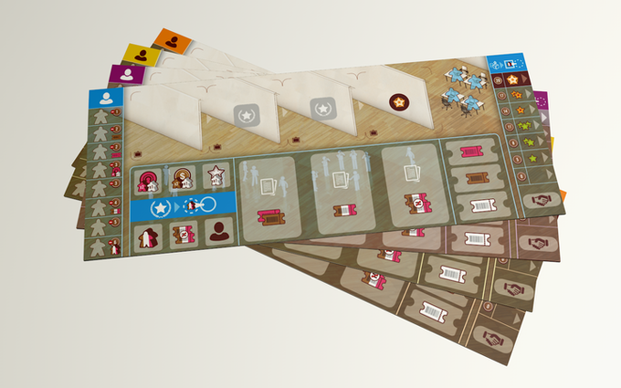 The Gallerist: Player Boards