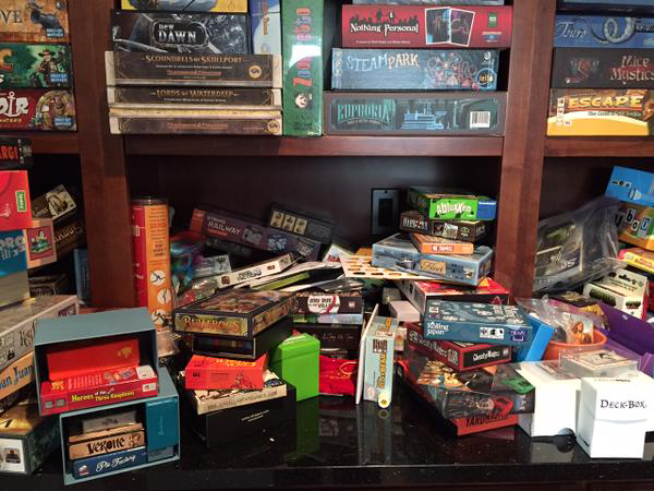 Game storage before our Cube