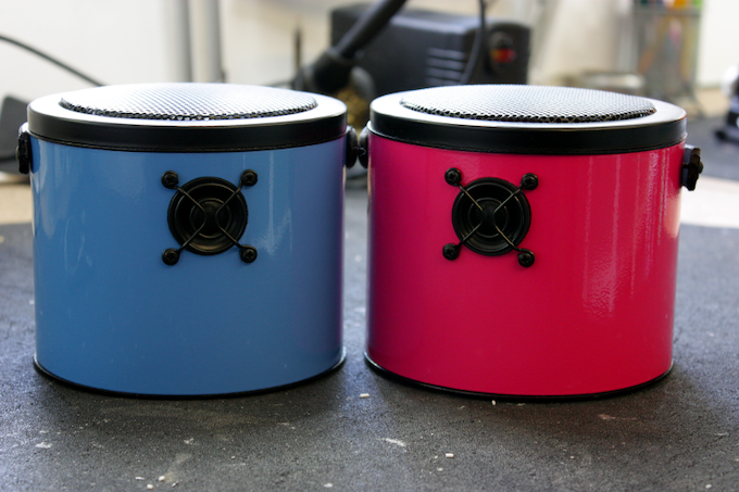 Two lovely SoundBuckets in our workshop