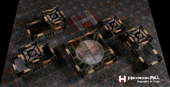"""Example """"Grimdark"""" Half Table layout"""