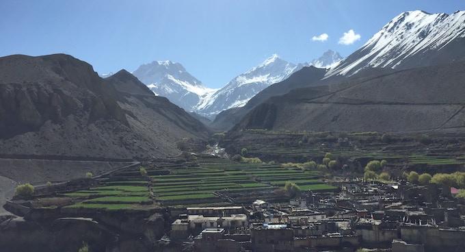 The village Kagbeni, 2 800 MASL, in Mustang, Nepal.
