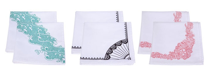 Pair of 100% cotton napkins in the design of your choice