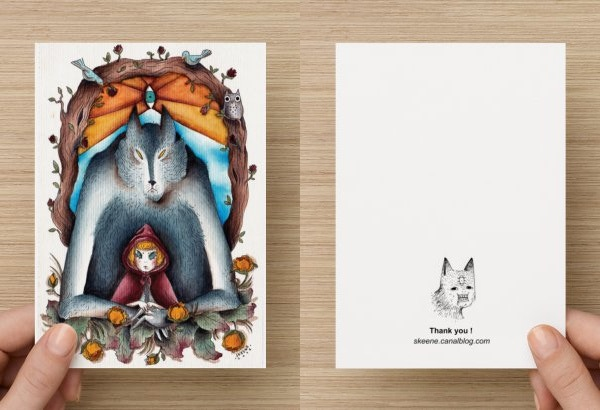 Little Red Riding Hood Postcards