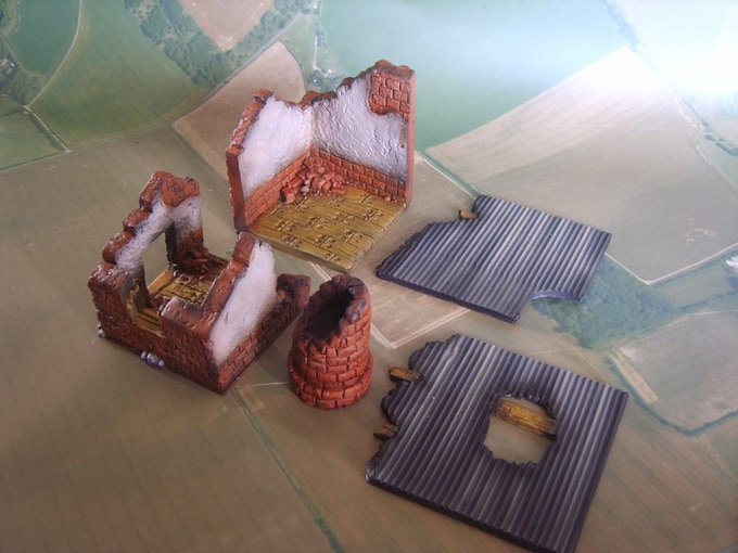 Factory ruins (supplied unpainted)