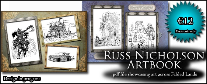 ARTBOOK: Receive a DRM-free .pdf file of Russ Nicholson's art from the 1990s series (€12, approx. $13)