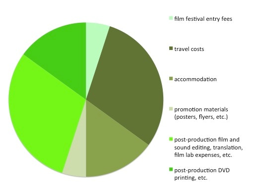 Breakdown of the Kickstarter funds
