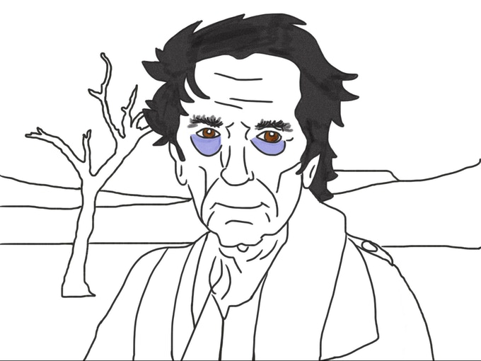 Color Me Sad: A Coloring Book of Melancholy Artists by Ron
