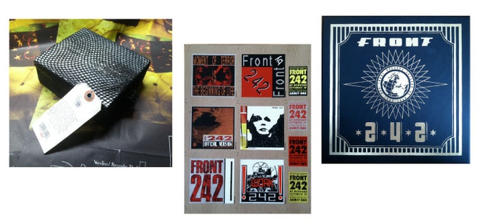 "REWARDS: Sealed Black Box/ Uncut FRONT 242 Images for Deluxe Box/ FRONT 242 Take One 7"" Deluxe Box"