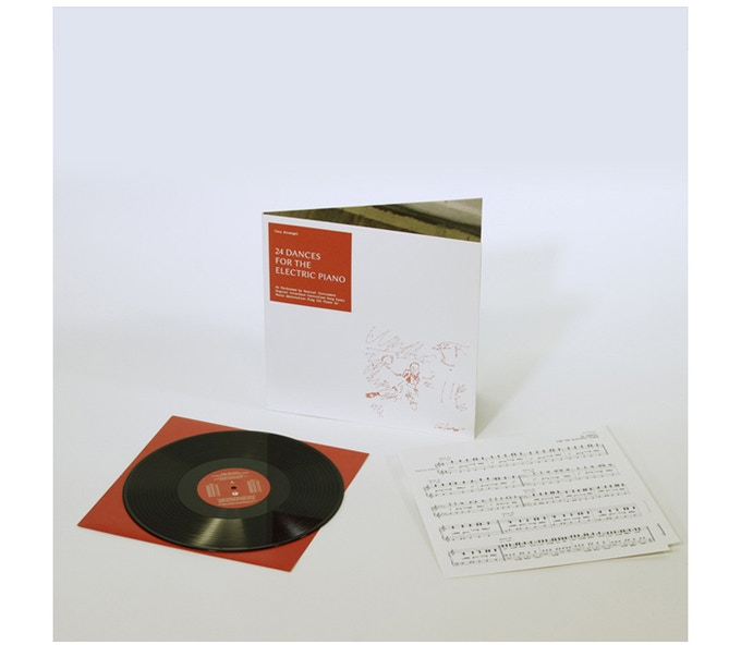 """£60: Signed Cory Arcangel vinyl record, """"24 Dances For The Electric Piano"""". Includes gatefold record sleeve, 180 gram vinyl 12"""" LP record, 4 page original score."""