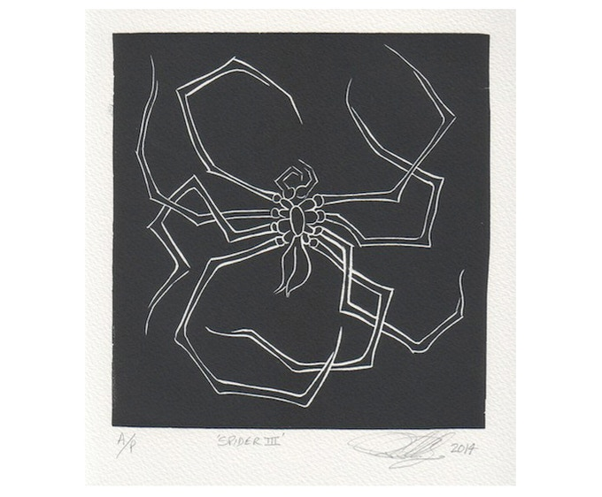£195: Peter Randall-Page, Spider III 2014, artist proof, linoprint, 17 x 16.5 cm.