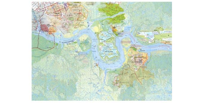 £225: Layla Curtis, The Thames (Section 1: From London Bridge, Arizona to Salt Island, British Virgin Islands), 2014. Digital pigment print on Somerset Enhanced Velvet paper, 255gsm (69.4cm x 52cm)