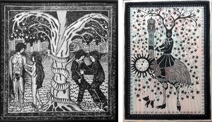 """""""Adam & Eve"""" and """"Time is fleeting"""" by Danielle de Piciotto"""