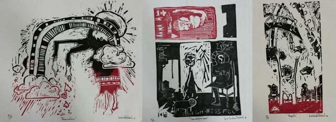 Linocutprints by Luis Cerdas Jaubert