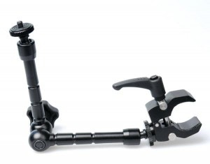 The mini magic arm with clamp allows you to mount and orient your Sphericam in nearly any position you need.